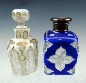 Pair Bohemian Perfume Bottles