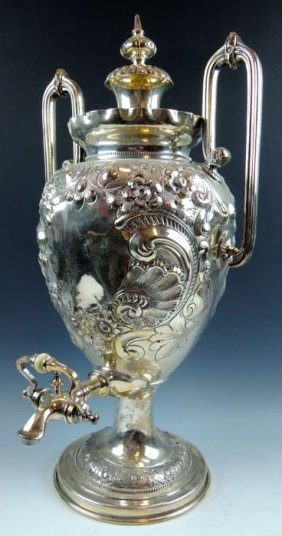 Antique Silver Plate Coffee Urn