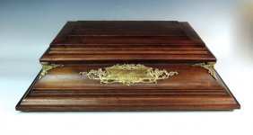 Unusual Walnut & Sterling Silver Chest By Towle