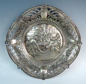 Continental Silver Repousse Bowl