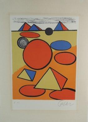Alexander Calder Modernist Lithograph