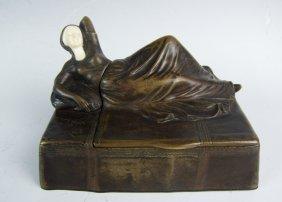 Tereszczuk Bronze & Ivory Erotic Cigarette Box