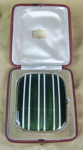 Cartier Art Deco 18k Gold & Enamel Cigarette Case