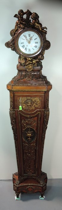 Important French Louis Xv Grandfather's Clock