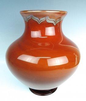 Large Signed Tiffany Favrile Tel Armana Vase