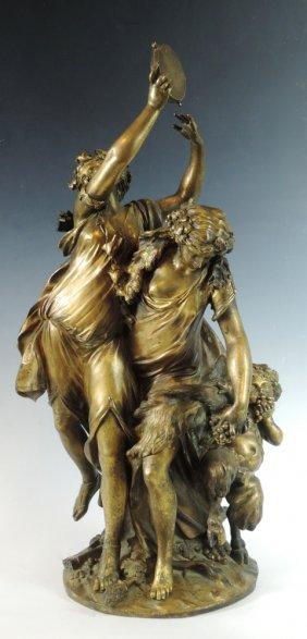 Claude Michel Clodion Antique Dore' Bronze