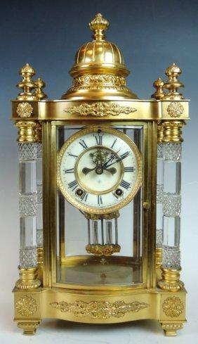 Ansonia Utopia Cut Glass Regulator Clock