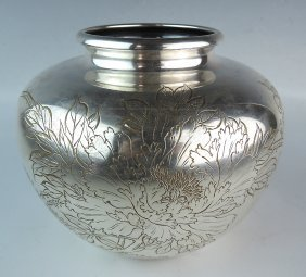 Japanese Artist Signed Sterling Silver Bowl
