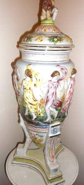Antique French Porcelain Capodimonte 56-inches, Width