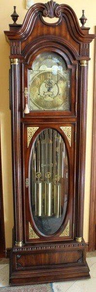 Charles Sligh Grandfather Clock With 9 Tubular Chimes