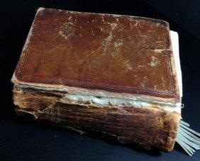 Antique Hebrew & English Printed Bible Circa 1910