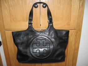 Tory Burch Black Leather Purse Handbag