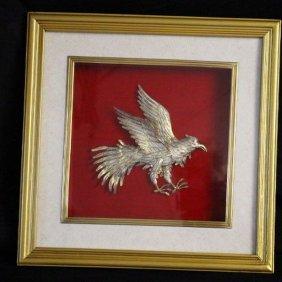 Antique Gilted Indonesian Garuda Silver /24k Gold Bird