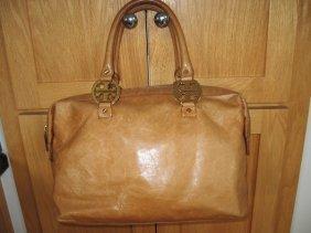 Tory Burch Brown Leather Purse Handbag
