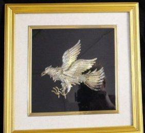 Vintage Indonesian Silver & 24k Gold Garuda Sculpture