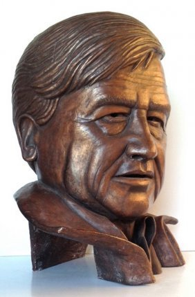 Vintage Cesar Chavez Ceramic Bust By American Artist