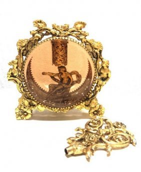 Antique Circa 1890 French Victorian Gold Leaf Perfume