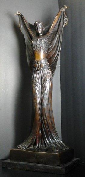 Antique Bronze Sculpture Signed Louis Icart