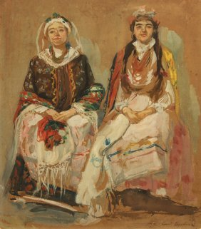KOROVIN ANTIQUE RUSSIAN PAINTING BRIDE