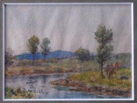 Horace Burdick Miniature Landscape Painting