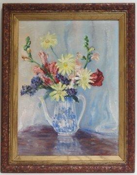 Johann Berthelsen Still Life Of Flowers Painting