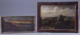 2 Small American Impressionism Landscape Paintings