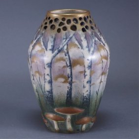 Paul Dachel For Amphora Forest & Mushroom Vase