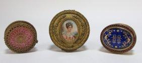 Lot European Miniature Portrait Jewelry Box Casket