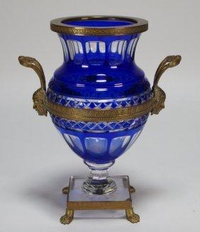 Bronze Mounted Austrian Glass Vase