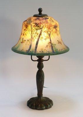 Pairpoint Reverse Obverse Painted Boudoir Lamp
