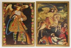2 Joel Espinoza Peruvian Colonial Cuzco Paintings