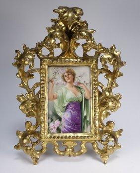 Tv Limoge France Hand Painted Porcelain Plaque