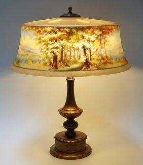 Pairpoint C. Durand Reverse Hand Painted Lamp