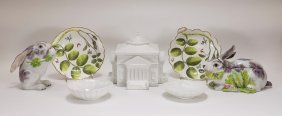 Estate Tiffany French English Porcelain Grouping