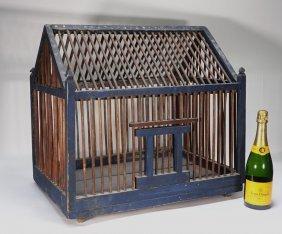 Antique Primitive E. Gilson Painted Bird Cage