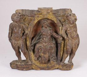 Italian 19c Religious Wood Carving