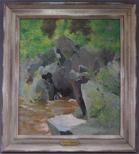 Kenneth Macintire Impressionist Rockery Painting