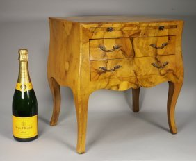French Burl Wood Miniature Chest