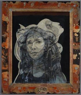 Eugene Tonoff Mixed Media Portrait Painting