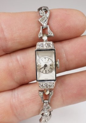 Bulova 14kt Gold & Diamond Woman's Cocktail Watch