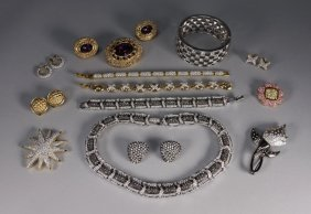 Swarovski Crystal Jewelry Grouping - 14 Pieces