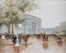 """ANDRE GISSON (French 1921-2003) A PAINTING, """"Arc De"""