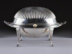 A SHEFFIELD SILVER PLATED STEAMED VEGETABLE STAND, 2