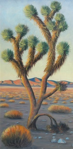 """CARL G. BRAY (American 1917-2011) A PAINTING, """"Dese"""