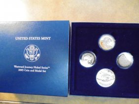 2005 Westward Journey Nickel Coin & Medal Set Original