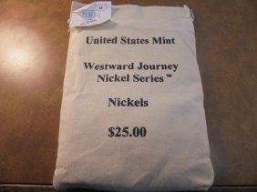 Us Mint Sealed $25 Bag Of 2004-d Keelboat Nickels