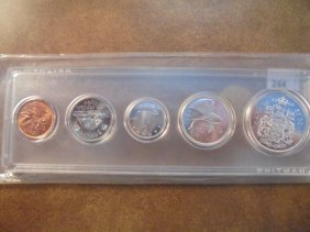 1964 Canada Silver (pf Like) Set Contains: Cent- Half