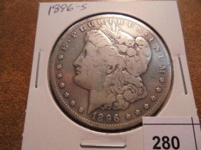 1896-s Morgan Silver Dollar Bettere Date Coin