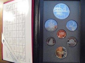 1991 Canada Double Dollar Proof Set Frontenac Original