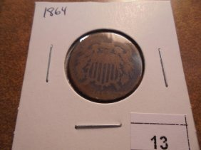 1864 Us Two Cent Piece